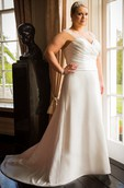 Illusion Straps Sweetheart A-Line Bridal Gown With Train