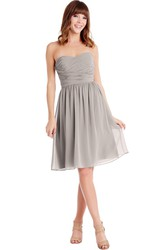 Knee-Length Criss-Cross Sweetheart Sleeveless Chiffon Muti-Color Convertible Bridesmaid Dress