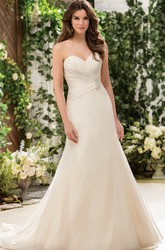 Sweetheart Trumpet Gown With Jewels And Detachable Cap Sleeves