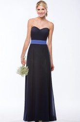 Sweetheart A-Line Floor-Length Bridesmaid Dress With Bow