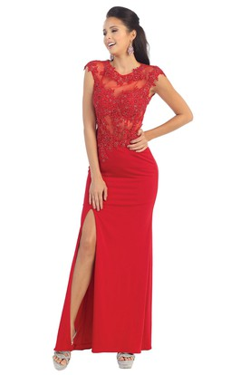 Red Lace Prom Dresses | Lace Prom Dresses - UCenter Dress