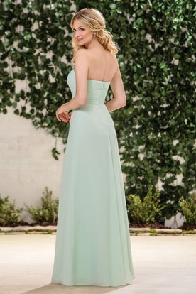 Sweetheart A-Line Bridesmaid Dress With Asymmetrical Ruches