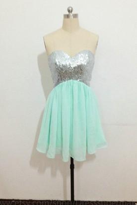 Mint Green Semi Formal Dresses  1db30f892