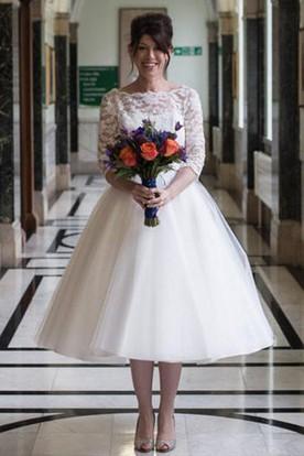 Tea Length Wedding Dresses Short Bridal Dresses Ucenter Dress