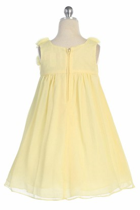 Knee-Length Sleeveless Chiffon Flower Girl Dress