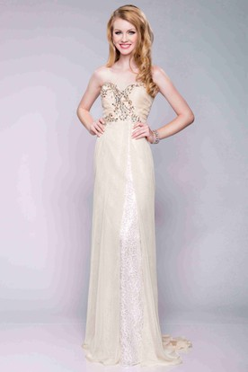 87c5d98583 Formal Dresses In Erie Pa. Empire Column Chiffon Sweetheart Prom Dress With  Jeweled Top