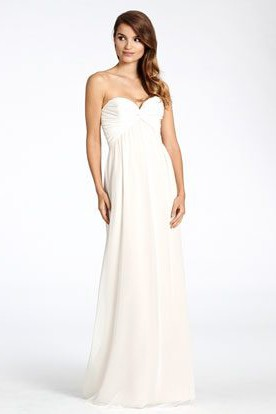 Empire Criss-Cross Sleeveless Sweetheart Chiffon Bridesmaid Dress