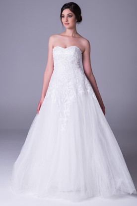 Cheap Strapless Wedding Dresses  Sweetheart Wedding Dresses ...