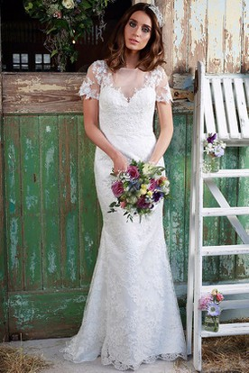 Short Sleeve Wedding Dresses  Wedding Dresses With Sleeves