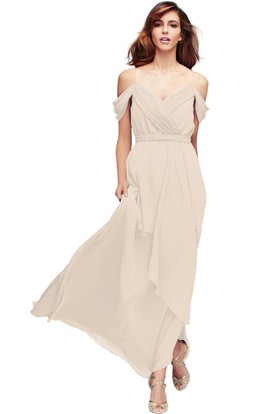 Spaghetti Ruched Sleeveless Chiffon Muti-Color Convertible Bridesmaid Dress