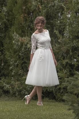 Vintage T Length Wedding Dresses