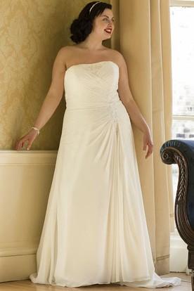 Plus Size Wedding Dresses with Lace Jacket