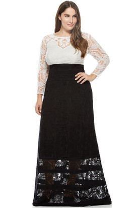 Long Sleeve Bateau Neck Lace Evening Dress With Illusion Back
