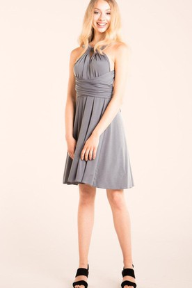 ec34b3b471c Charcoal Grey Junior Bridesmaid Dress