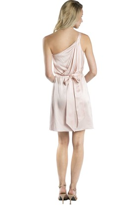 Mini Bowed Sleeveless One-Shoulder Taffeta Muti-Color Convertible Bridesmaid Dress