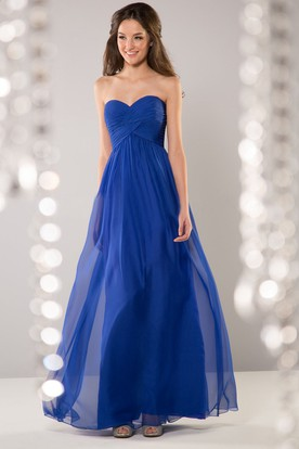 Sweetheart A-Line Bridesmaid Dress With Illusion Style And Crisscross Ruching
