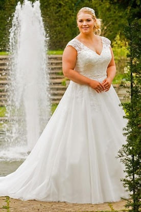 Cheap Plus Size Wedding Dresses With Sleeves  Sleeve Wedding ...