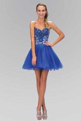 Dusty blue party dress