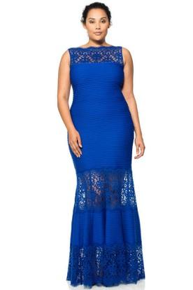 Mermaid Floor-Length Sleeveless Bateau Neck Lace Evening Dress