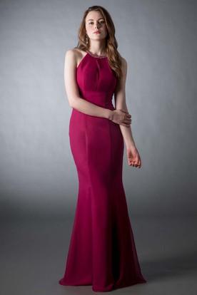 High Neck Evening Dresses  Long High Neck Prom Dresses