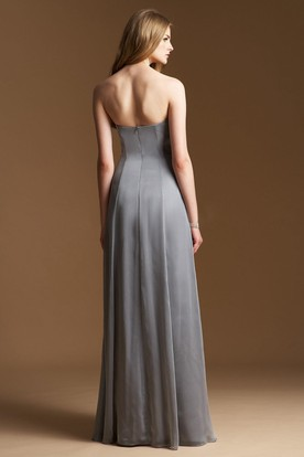 Sweetheart A-Line Empire Bridesmaid Dress With Beaded Neckline