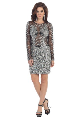 Silver Prom Dresses - Silver Long Formal Dresses - UCenter Dress