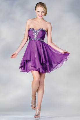 Short Purple Prom Dresses  Plum Bridesmaid Dresses - UCenter Dress