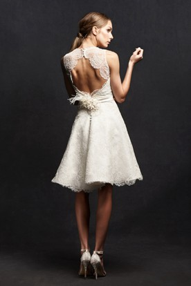 lace Knee Length Wedding Dresses - UCenter Dress