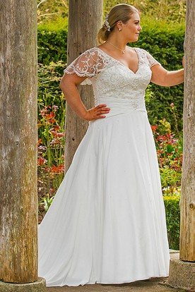 Wedding dresses for fat brides ucenter dress for Wedding dresses for chubby brides