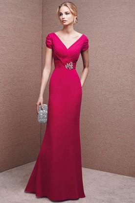 Tiana b evening dresses red