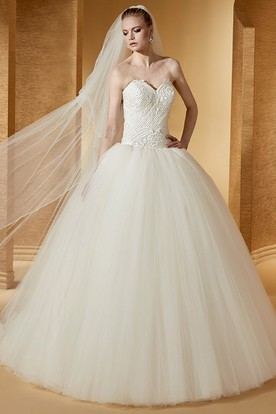 Elegant Sleeveless Ball Gown With Embroideries And Open Back