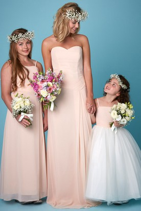 Sleeveless Ruched Sweetheart Chiffon Bridesmaid Dress