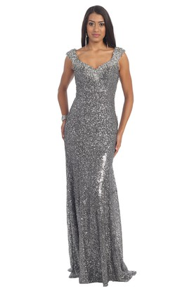 Silver Prom Dresses  Silver Long Formal Dresses
