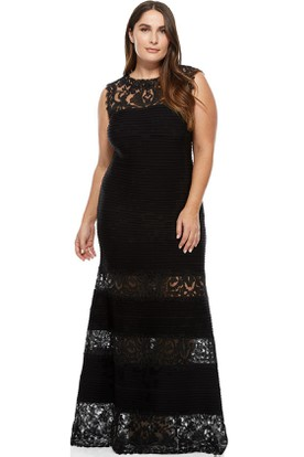 Floor-Length Appliqued Scoop Neck Sleeveless Lace Evening Dress
