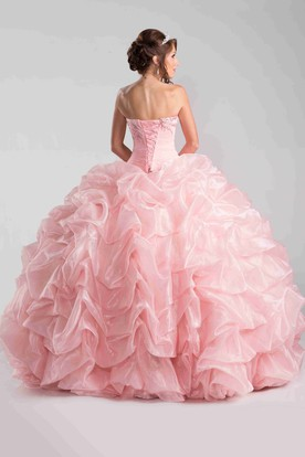 Sweetheart Ball Gown With Picturesque Sequin Detailing And Pick-Ups
