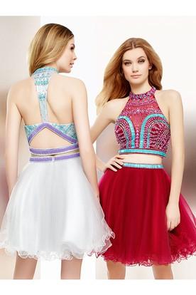 Red Short Semi-Formal Junior Dresses
