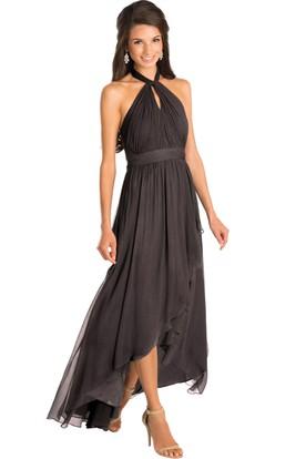 High-Low Ruched Halter Sleeveless Chiffon Muti-Color Convertible Bridesmaid Dress