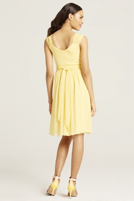 Lemon Yellow Knee Length Dress
