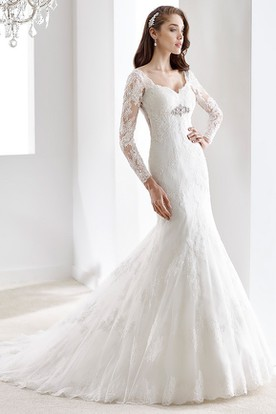 Sweetheart Pleated Sheath Mermaid Gown With Appliques And Lace-Up Back