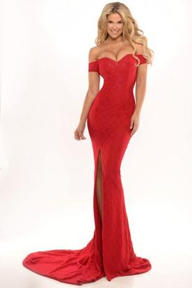 Off the Shoulder Prom Dresses - Off the Shoulder Dresses - UCenter ...