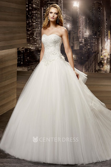9ba8caffe9e Sweetheart A-Line Ruching Gown With Beaded Bodice And Lace-Up Back -  UCenter Dress