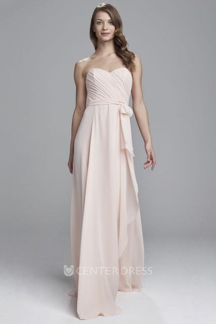 7d91f58616d Sweetheart Draped Chiffon Bridesmaid Dress With Ruching - UCenter Dress