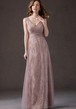 V-Neck Sleeveless A-Line Bridesmaid Dress With Tulle Overlay And Pleats