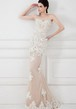 Mermaid Appliqued Sweetheart Sleeveless Lace Prom Dress