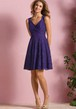 Sleeveless V-Neck A-Line Short Lace Bridesmaid Dress With Keyhole Back