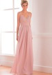 V-Neck Sleeveless A-Line Bridesmaid Dress With Lace Bodice And Spaghetti Straps