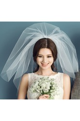 Bridal Veil Short Multi Layer Super Fairy Wedding Bridal Veil Short For Travel Photo