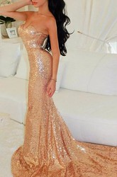 Glamorous Sweetheart Sequins Mermaid Prom Dresses 2018 Long Party Gowns