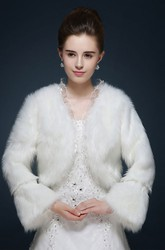 Bride Winter Wedding Wool Shawl Jacket Warm Long Sleeve Thickening Shawl