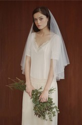 Retro Bride Wedding Veil For Travel Photography Ivory soft Veils wedding headdress